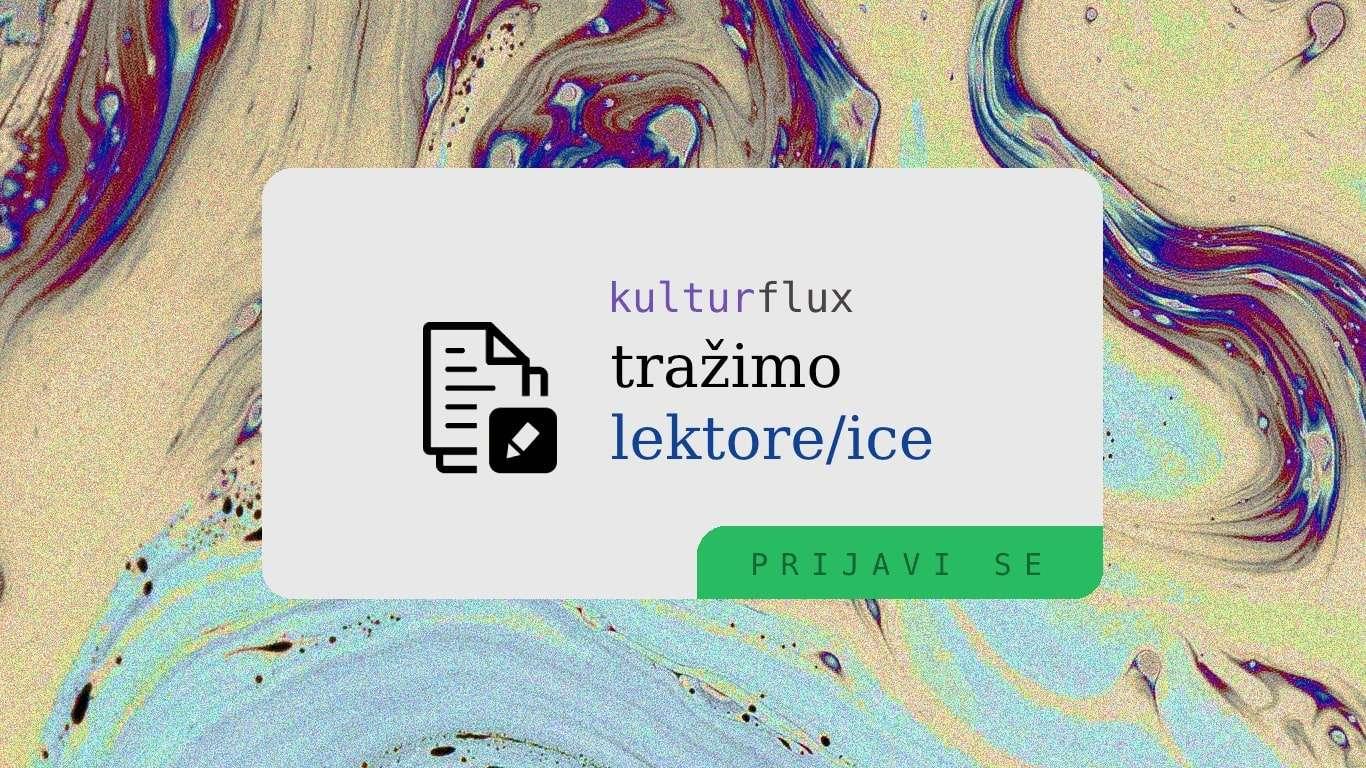 Kulturflux traži lektore/ice!