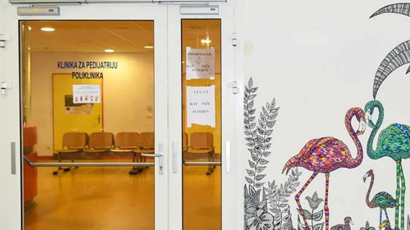 Oslikavanje zidova zagrebačke bolnice Rebro