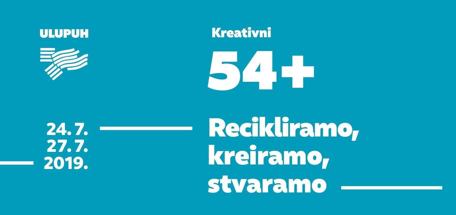 """Izložba polaznika radionice """"Recikliramo, kreiramo, stvaramo"""" projekta """"Kreativni 54+"""" u Galeriji ULUPUH"""
