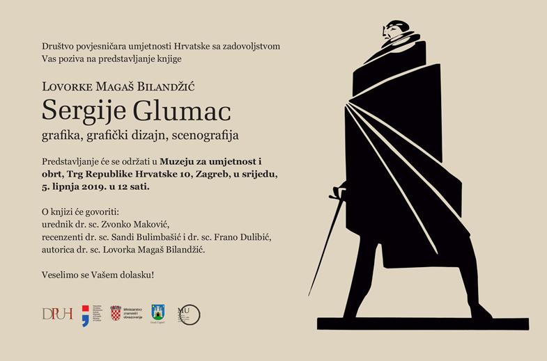 "Predstavljanje knjige ""Sergije Glumac: grafika, grafički dizajn, scenografija"" Lovorke Magaš Bilandžić"